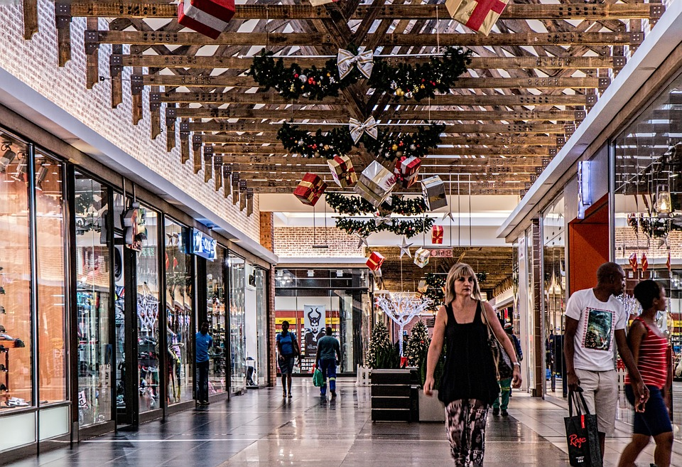 Shopping Mall, Woman, Shopping, Store, Retail, Center