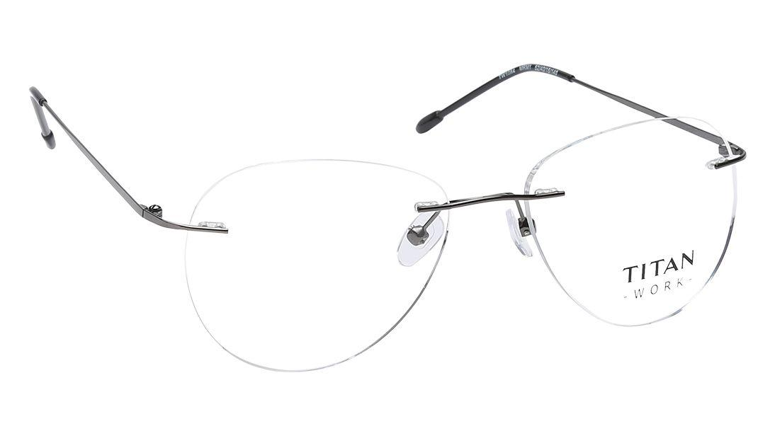 Black Aviator Rimless Eyeglasses from Titan