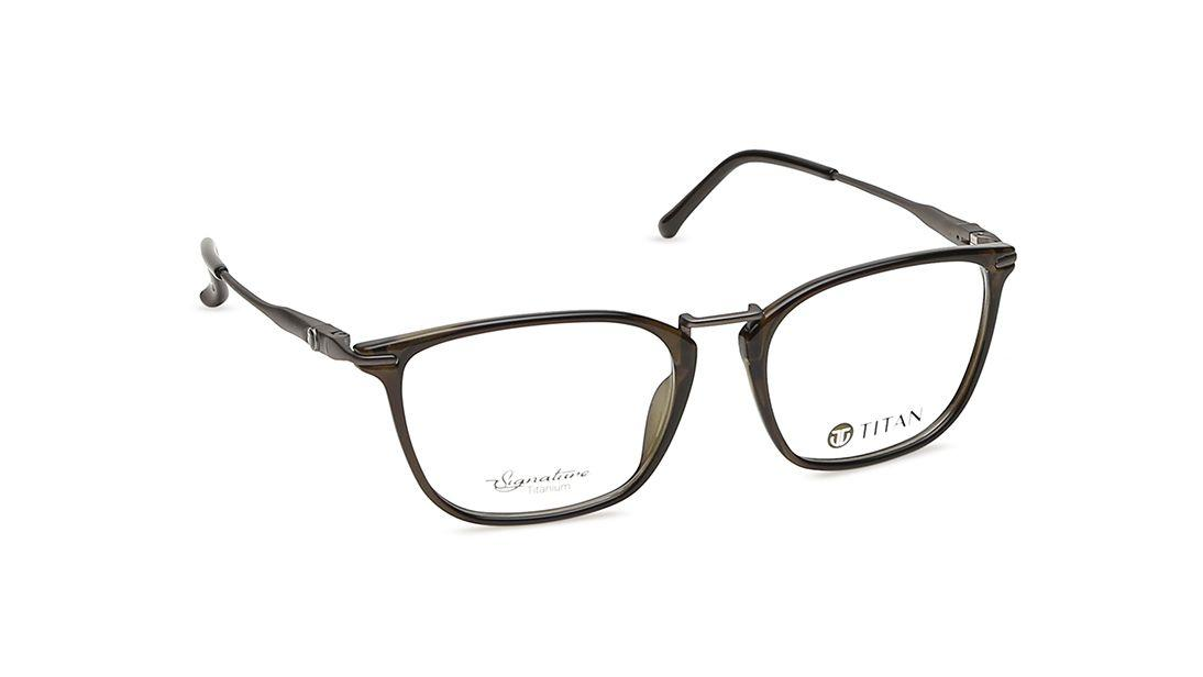 Green Square Rimmed Eyeglasses from Titan