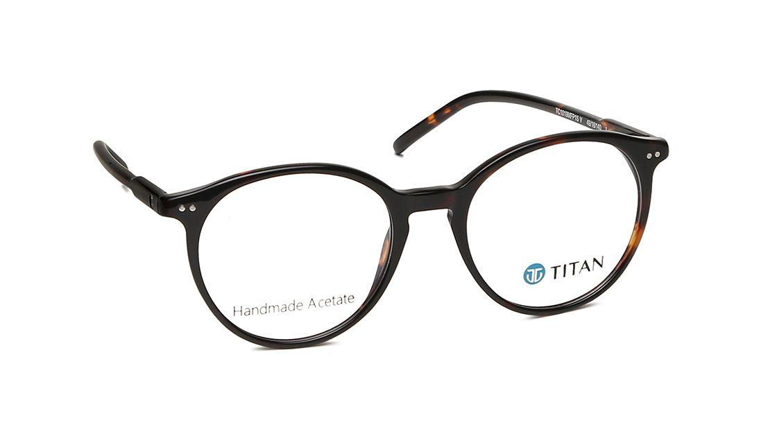 [IndieFit] Brown Round Rimmed Eyeglasses from Titan